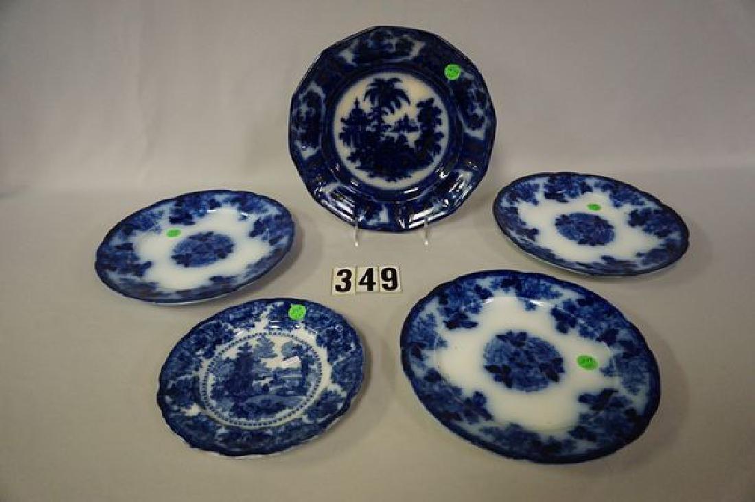 (5 PIECES) FLOW BLUE: