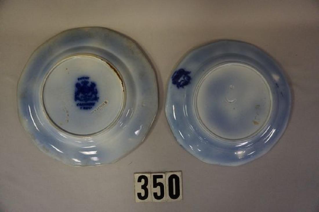 (2 PIECES) FLOW BLUE PLATES: - 2