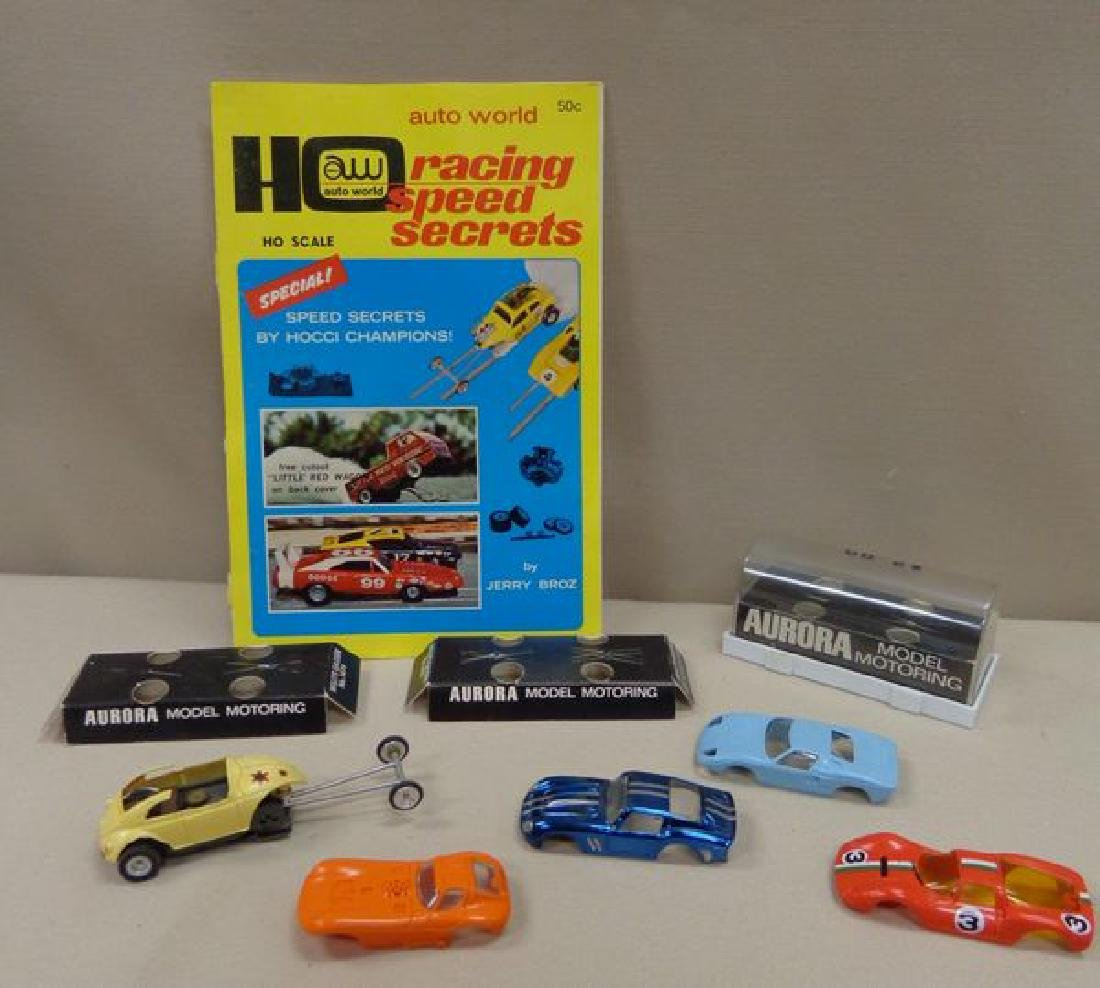 (4) AURORA SLOT CAR BODIES