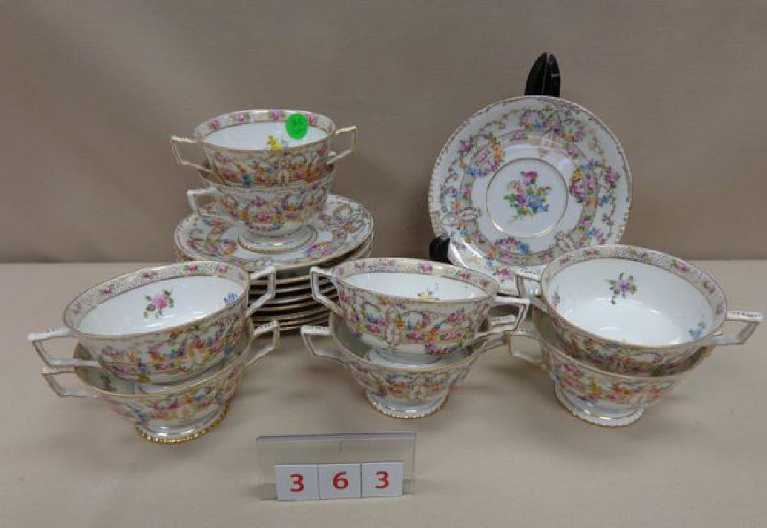 (17 PIECES) OF DRESDEN CHINA