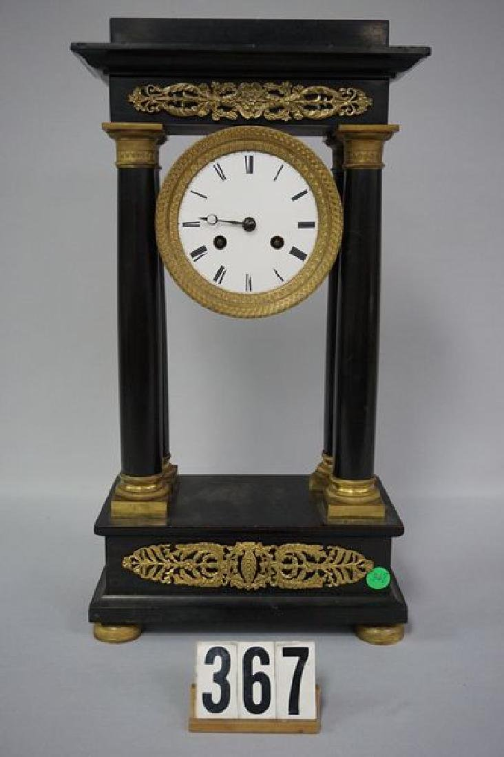 FRENCH SLATE CASE MANTLE CLOCK