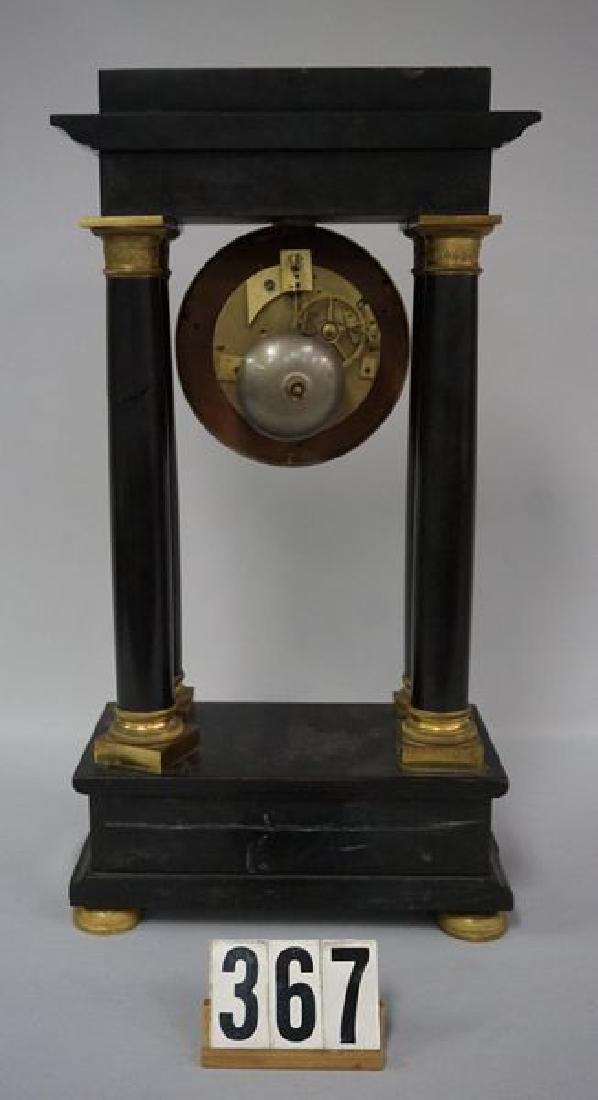FRENCH SLATE CASE MANTLE CLOCK - 2