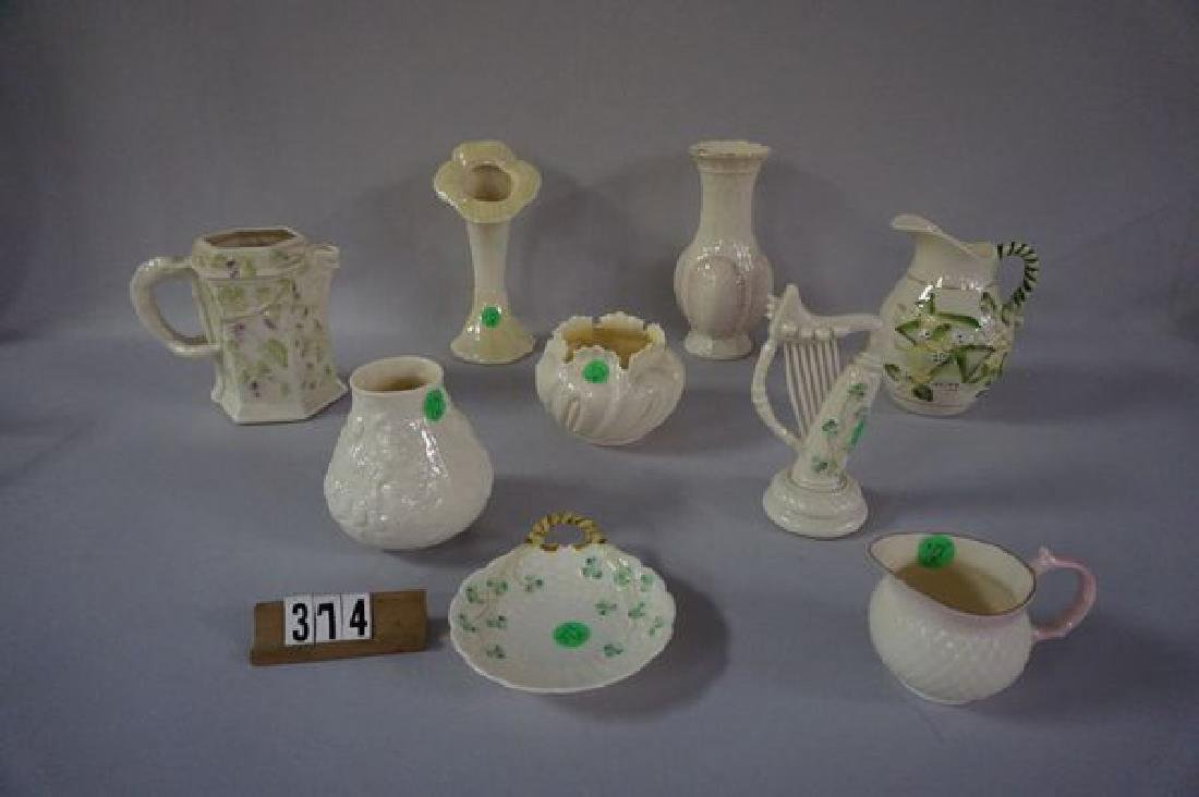(9 PIECES) BELLEEK: