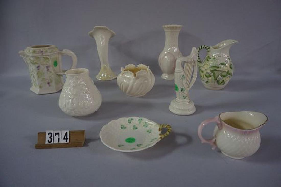 (9 PIECES) BELLEEK: - 2