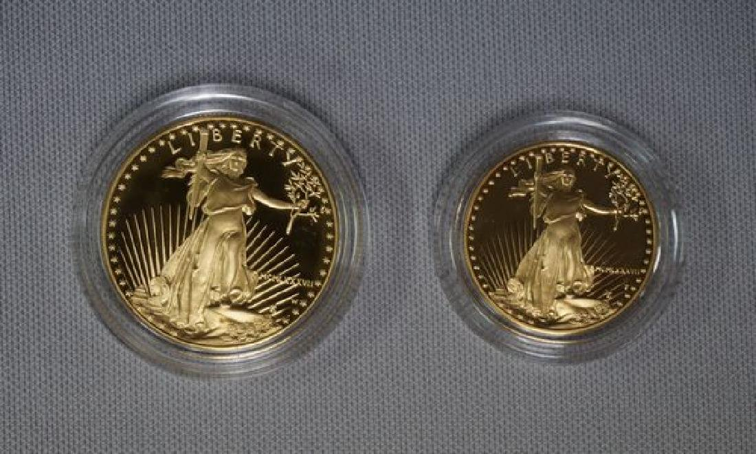 1987 TWO-PIECE GOLD AMERICAN EAGLE SET:
