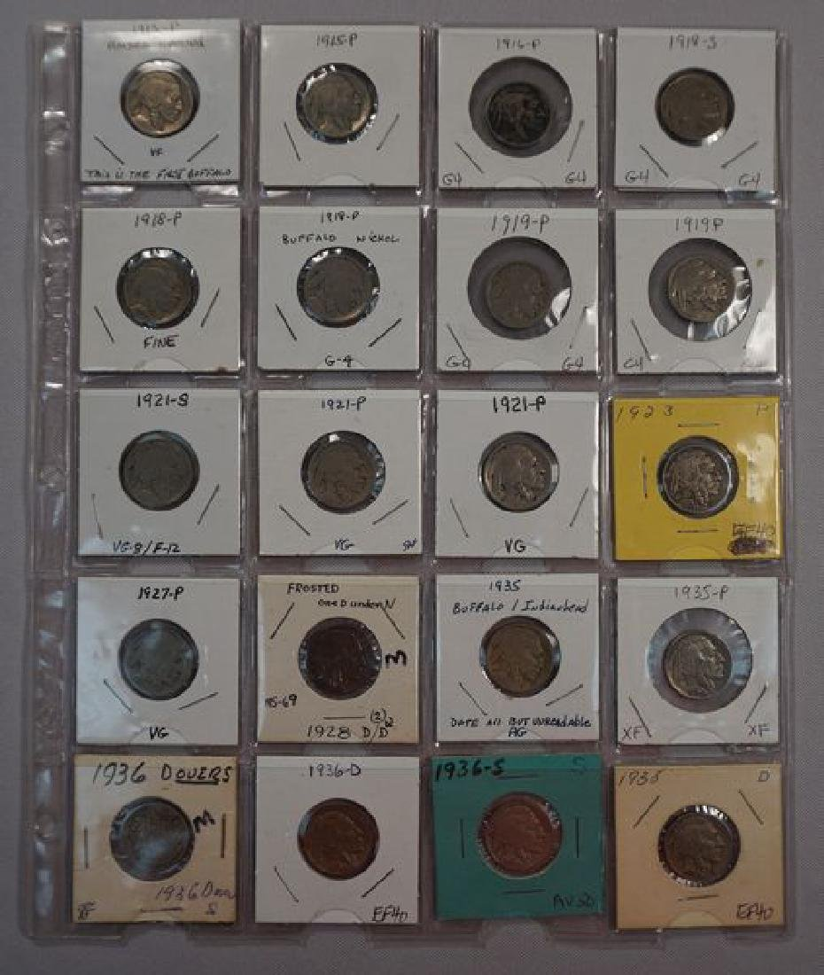 COLLECTION OF (20) BUFFALO NICKELS: