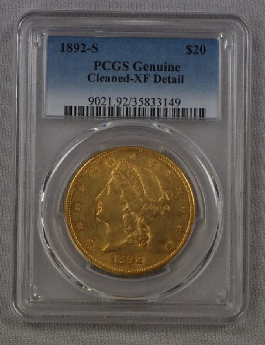 1892-S CORONET HEAD $20.00 GOLD: - 3