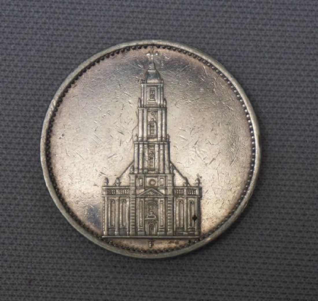 1934-F GERMAN THIRD REICH 5 MARK