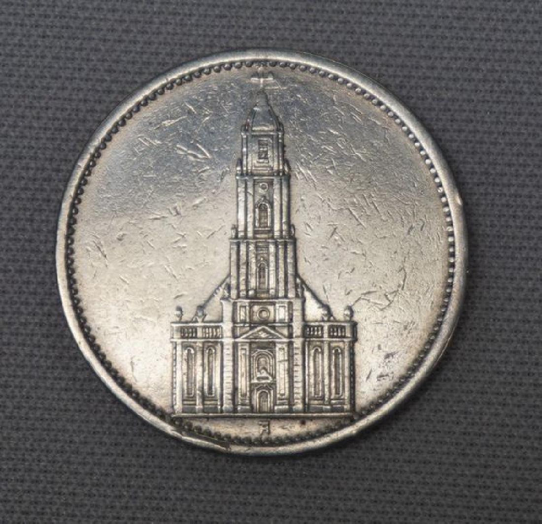 1935-A GERMAN THIRD REICH 5 MARK