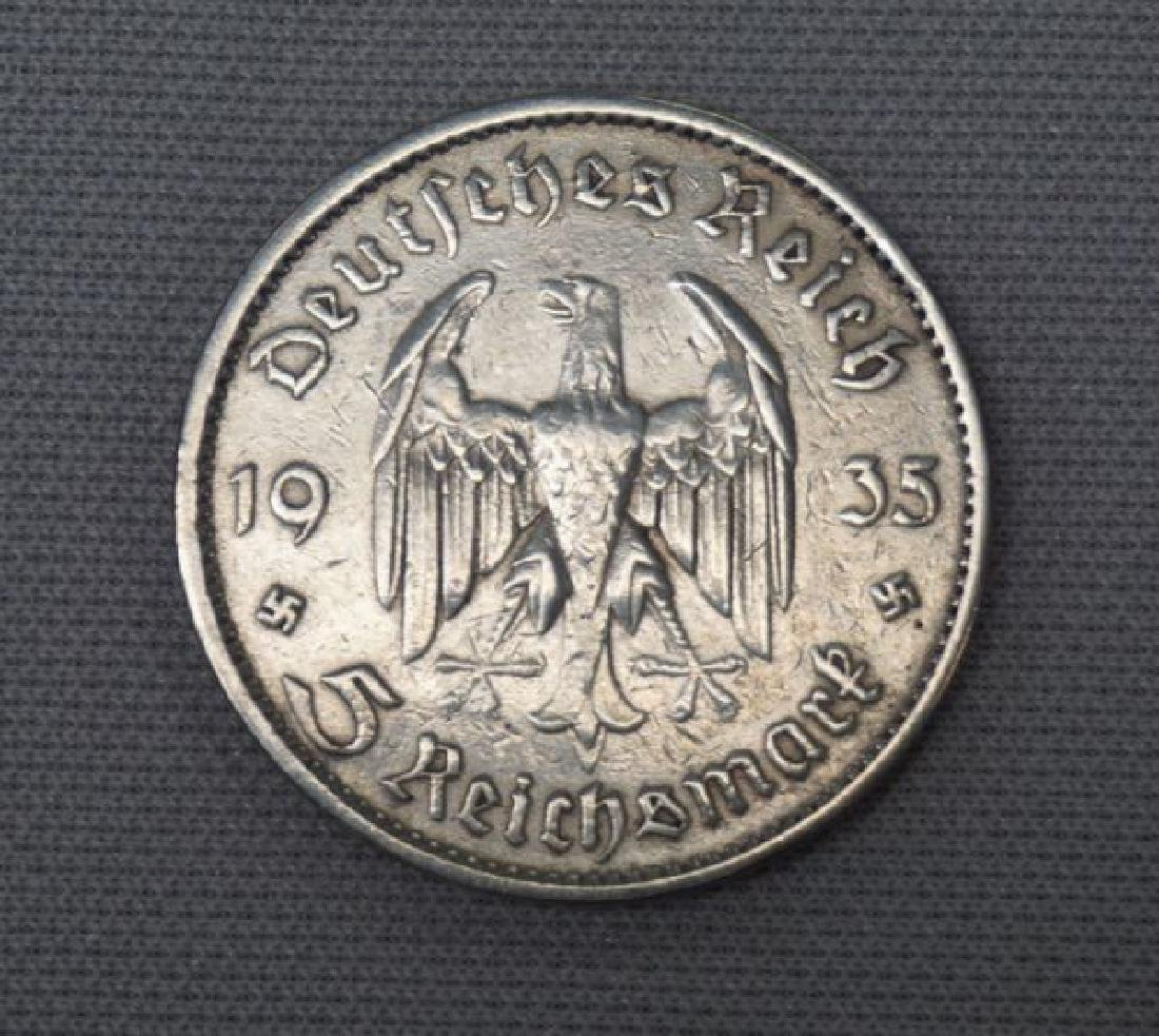 1935-A GERMAN THIRD REICH 5 MARK - 2
