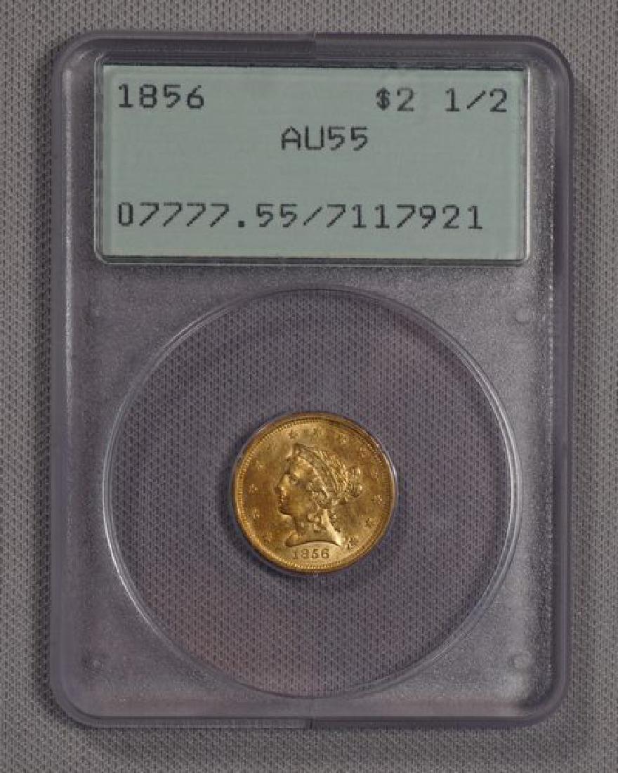 1856 $2.50 LIBERTY HEAD GOLD: