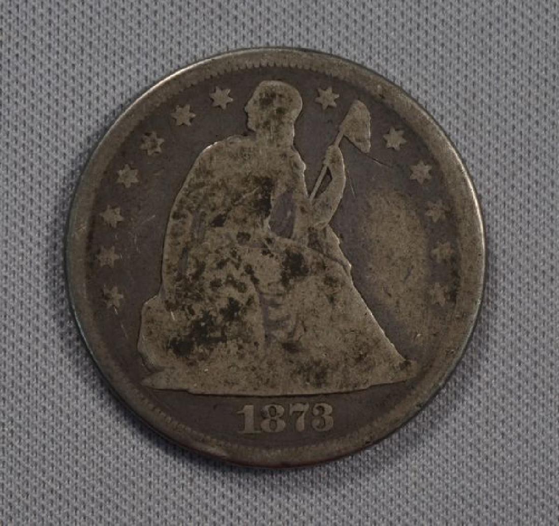 1873 LIBERTY SEATED DOLLAR: