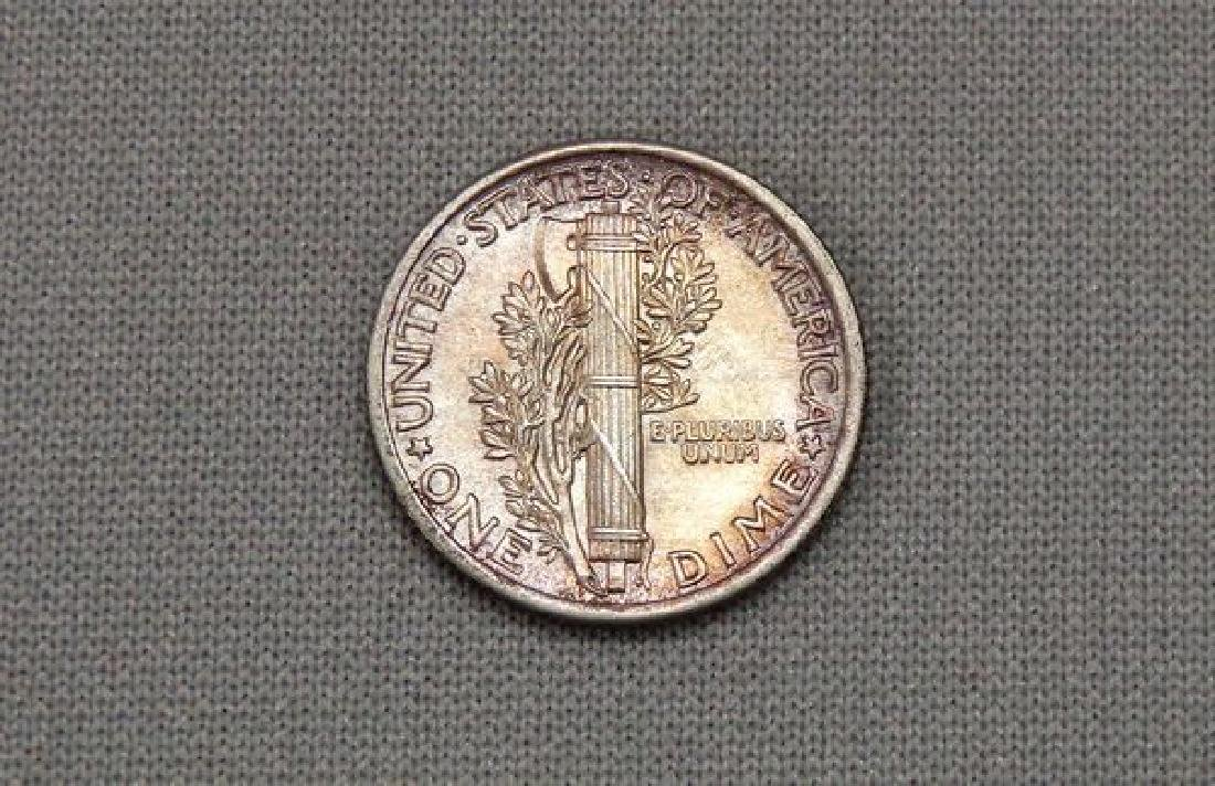 1916 MERCURY DIME WITH SPLIT BANDS: - 2