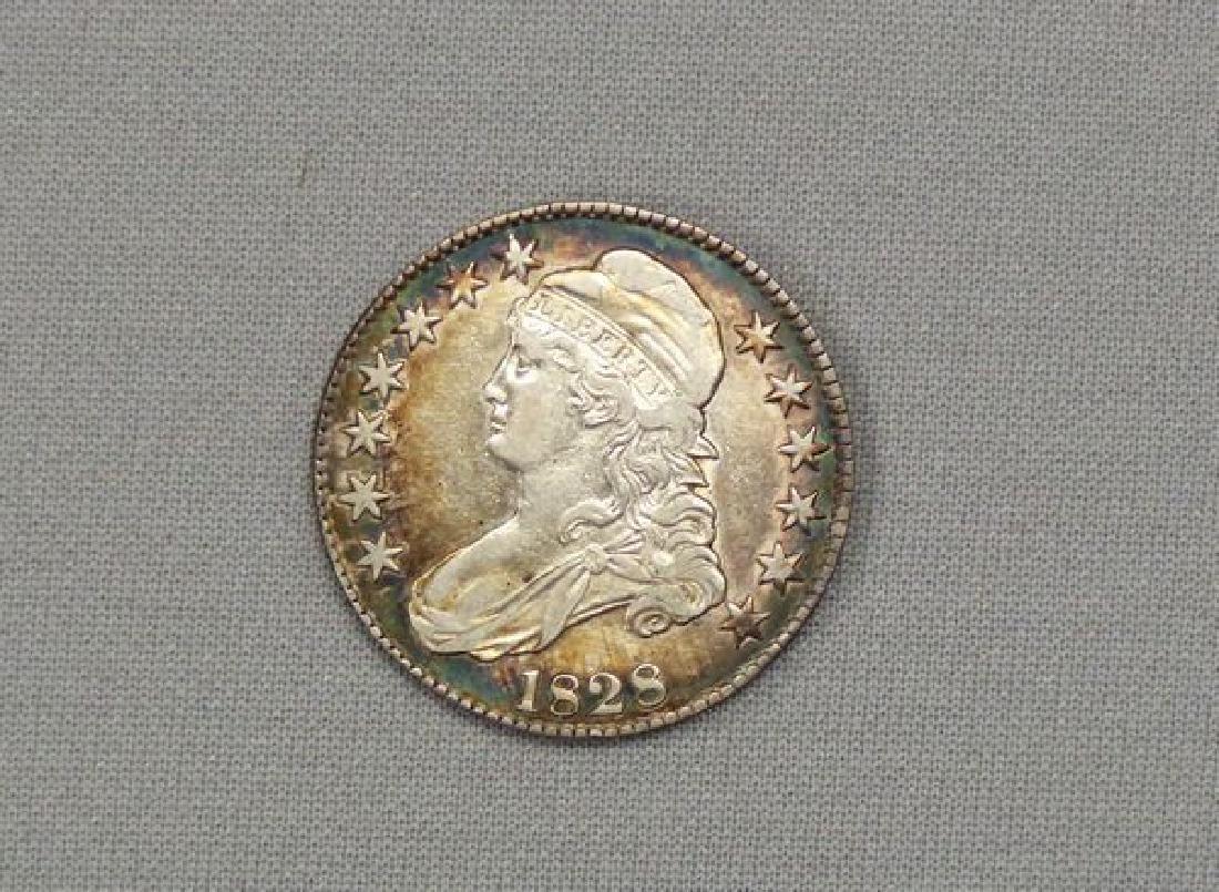 1828 BUST HALF DOLLAR:
