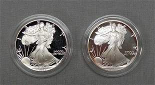1987 & 1992 PROOF SILVER EAGLES: