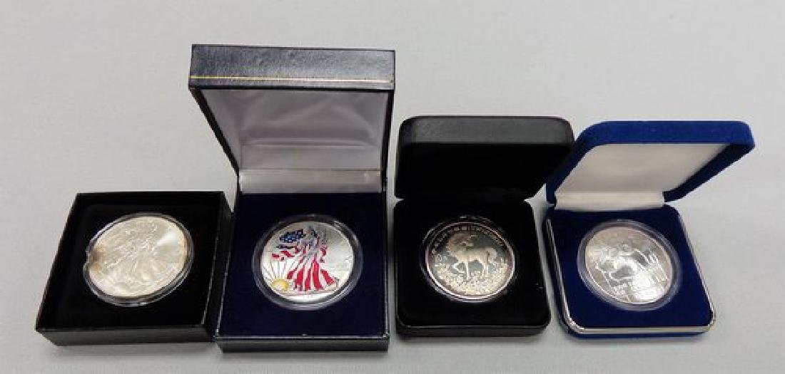 (2) SILVER EAGLES & (2) SILVER ROUNDS: - 3
