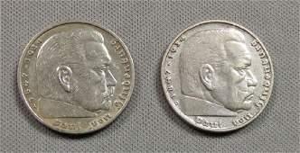 2 GERMAN THIRD REICH COINS