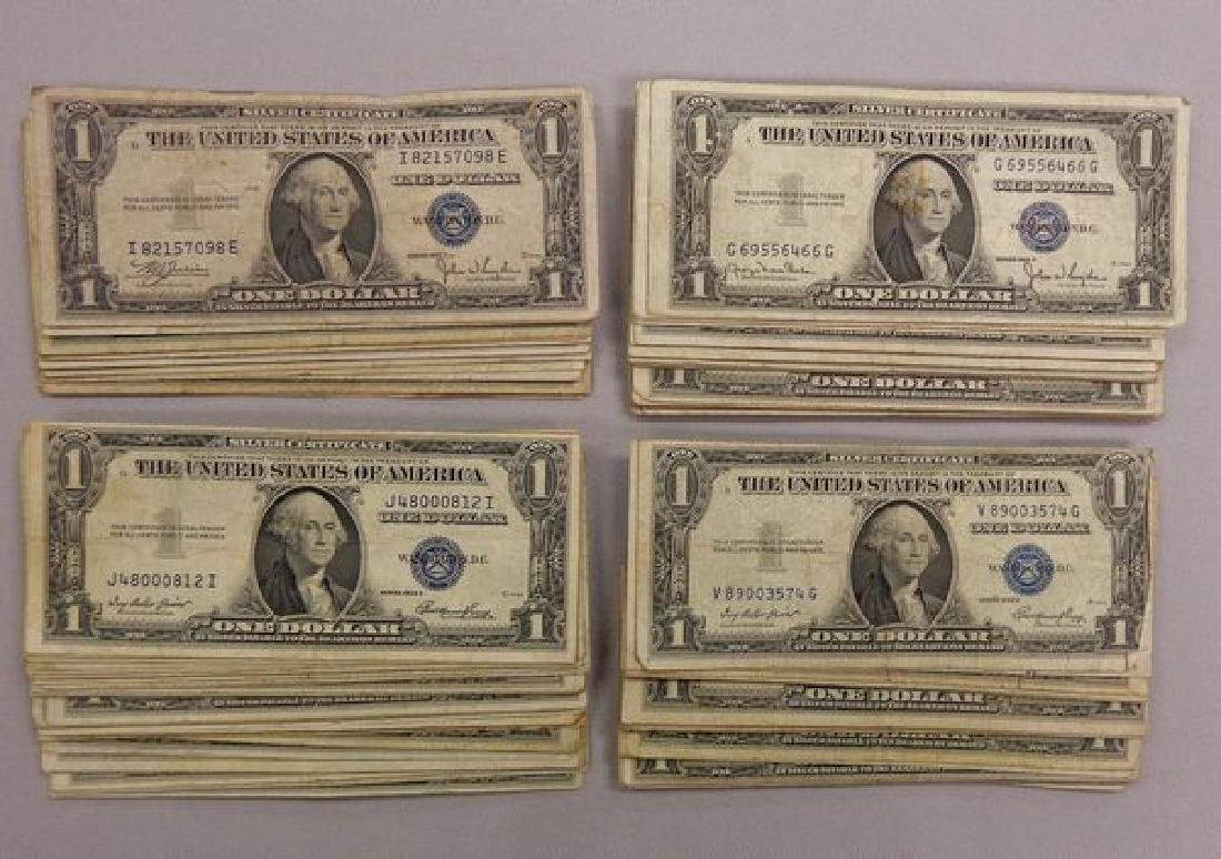 (170) SILVER CERTIFICATES $1.00: