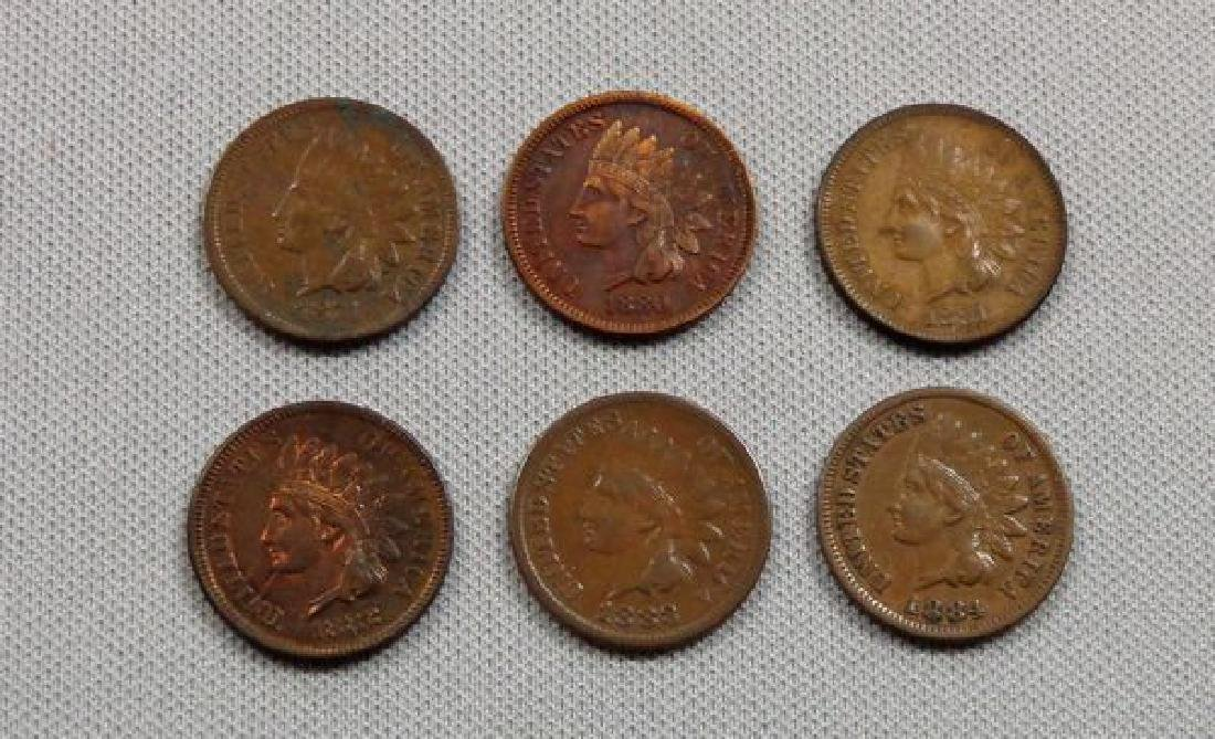 (6) INDIAN HEAD CENTS: