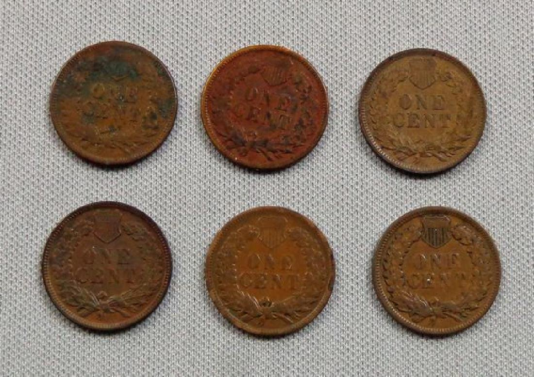 (6) INDIAN HEAD CENTS: - 2