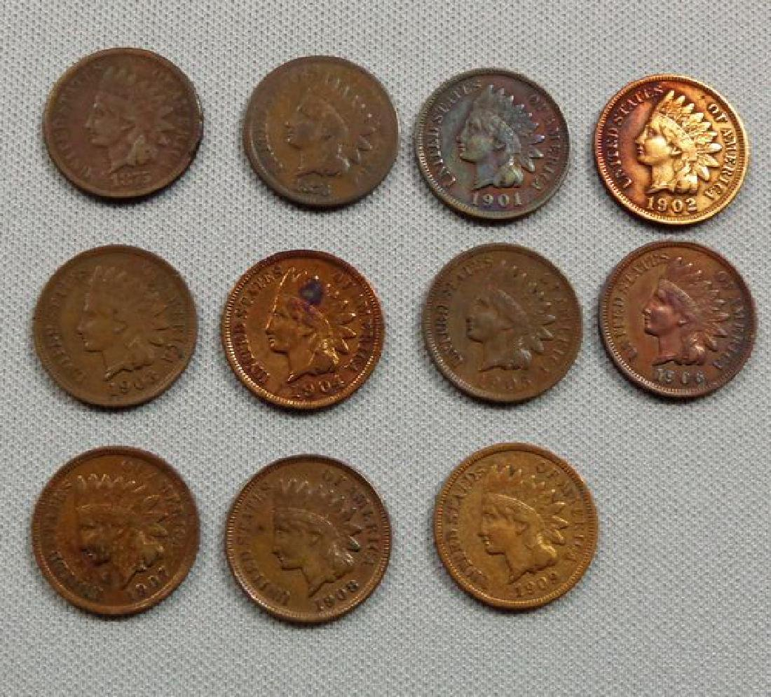 (11) INDIAN HEAD CENTS: 1875 - 1909