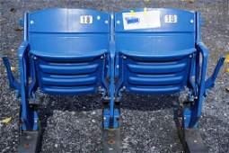 PAIR OF VETERANS STADIUM SEATS,