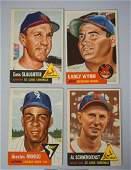 4 1953 TOPPS BASEBALL CARDS