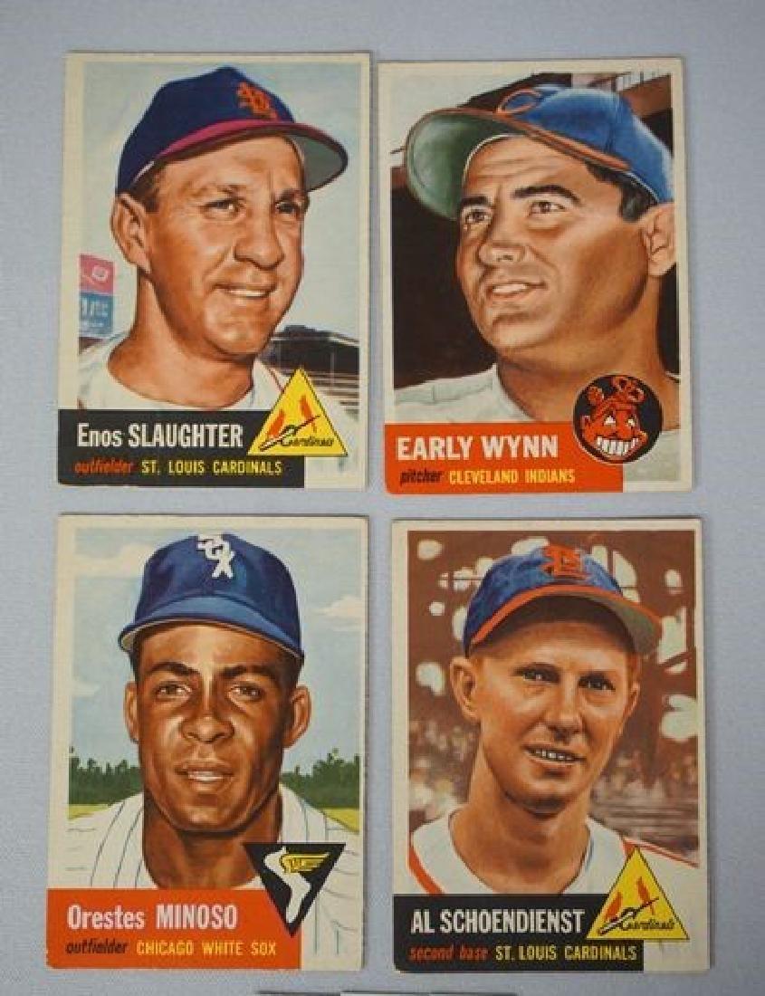 (4) 1953 TOPPS BASEBALL CARDS: