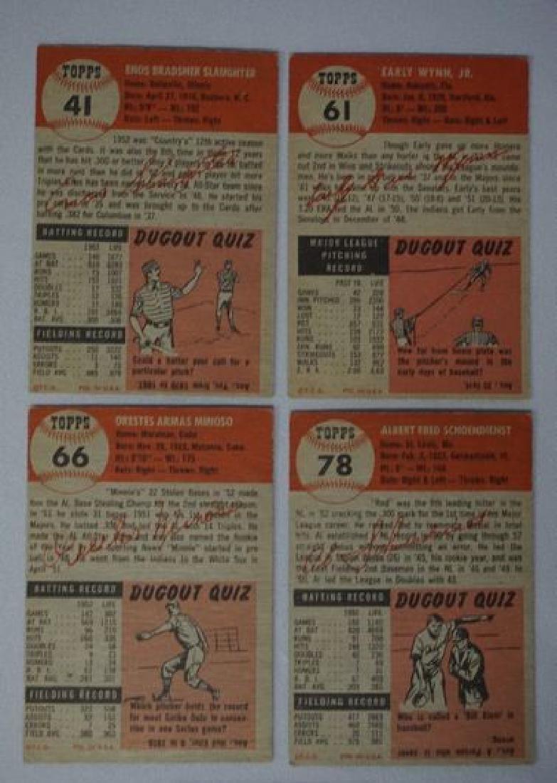 (4) 1953 TOPPS BASEBALL CARDS: - 2