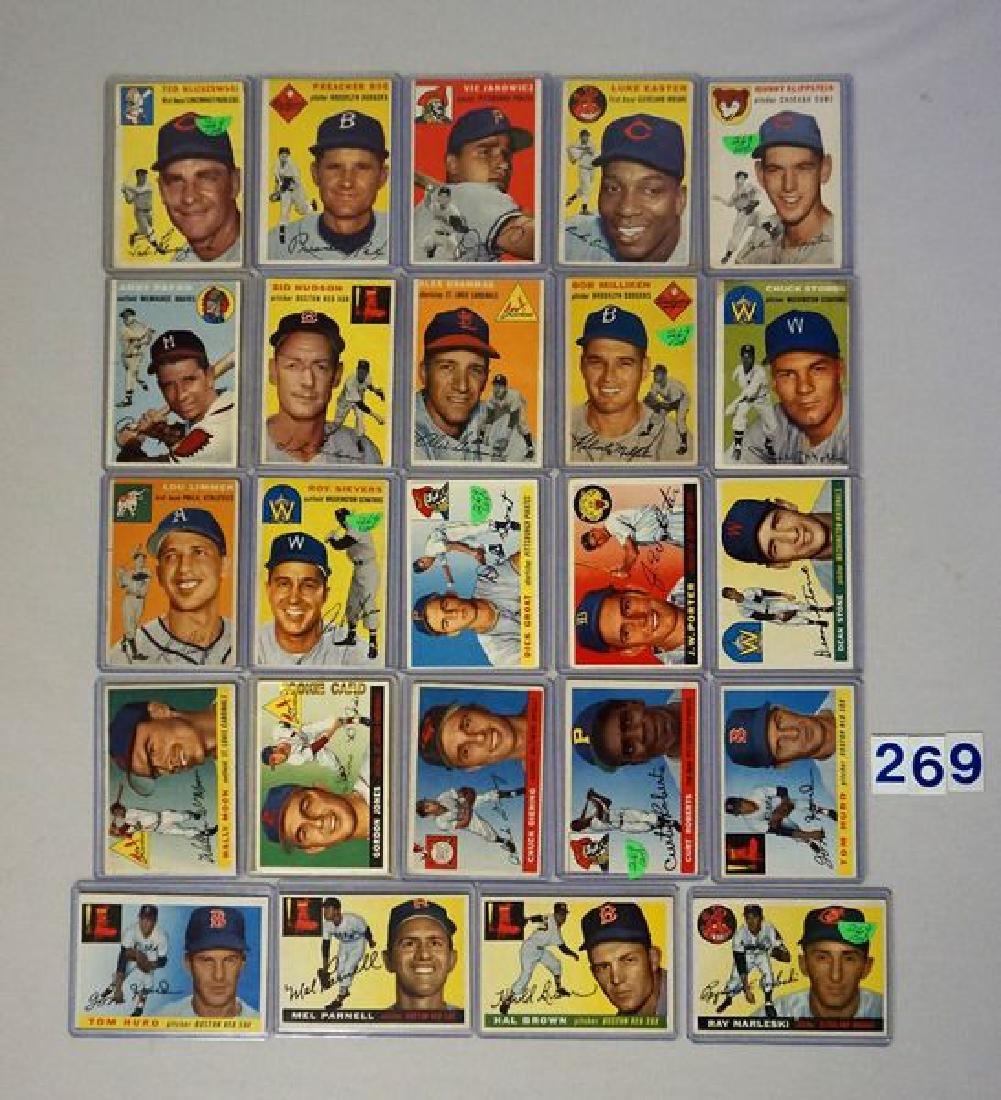 (12) 1954 TOPPS BASEBALL CARDS