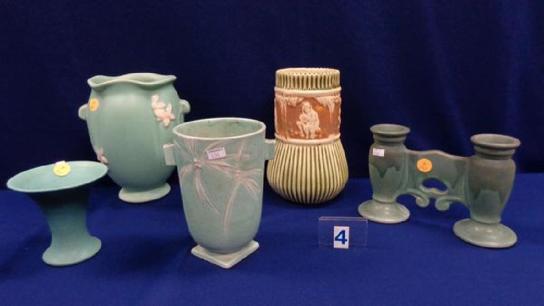 (5 PIECES) ART POTTERY: