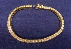 14 KT GOLD & DIAMOND TENNIS BRACELET