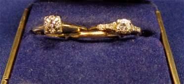 LADIES 14 KT GOLD DIAMOND ENGAGEMENT