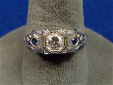 1920 LADIES WHITE GOLD RING