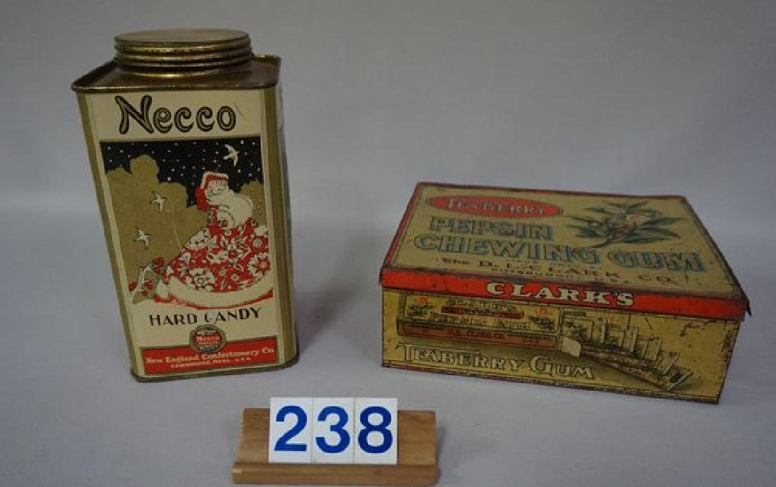 (2 PIECES) ADVERTISING TINS: