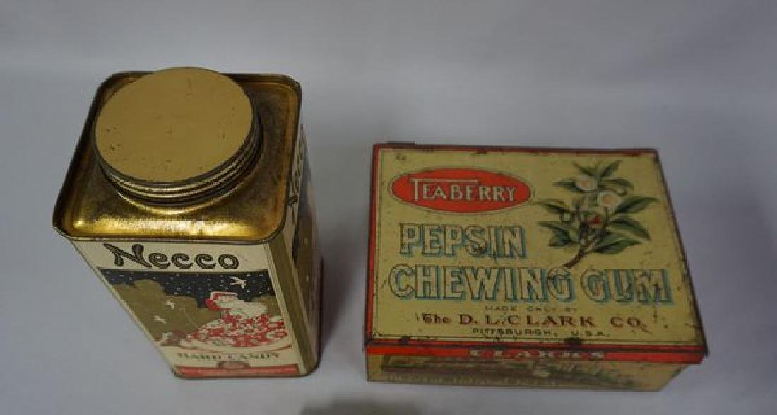 (2 PIECES) ADVERTISING TINS: - 4