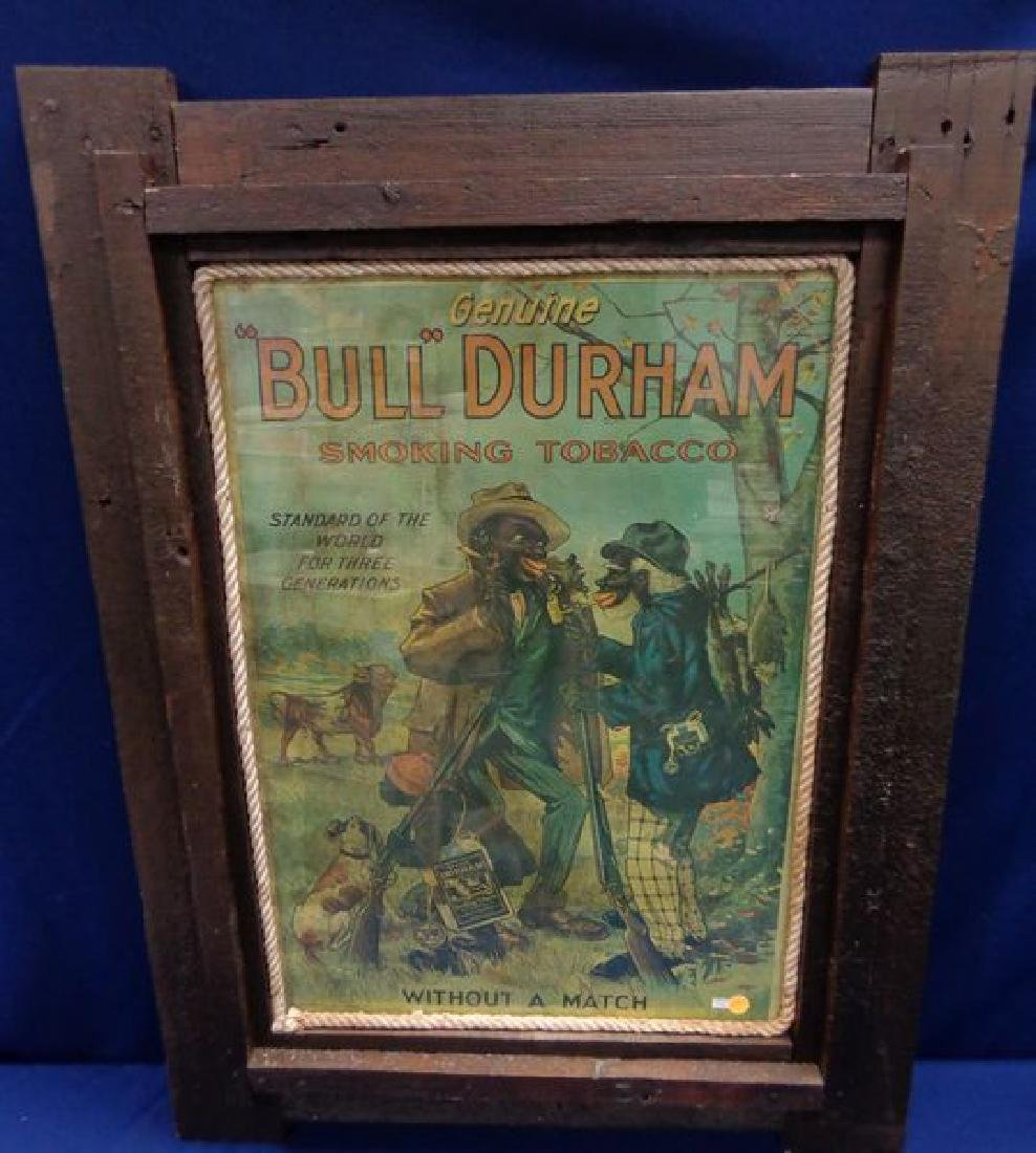 ANTIQUE ADVERTISING TOBACCO POSTER