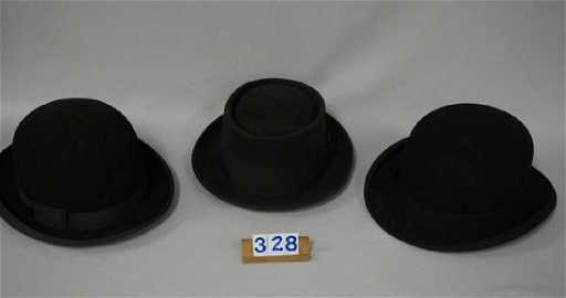 (2) DERBY   BOWLER STYLE HATS 66bd8095a472
