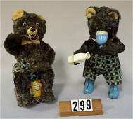 (2 PIECES) JAPAN WIND-UP BEARS: