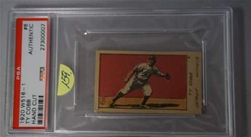 1920 W516-1 #6 TY COBB HAND CUT,