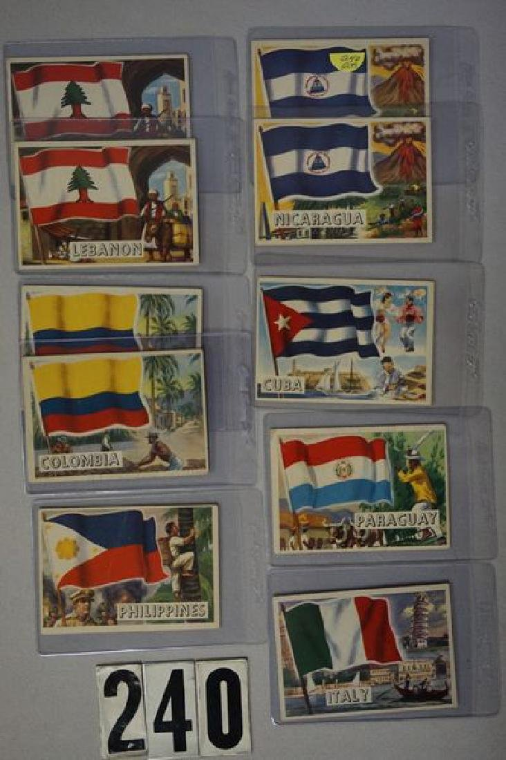 (28) 1956 TOPPS FLAGS OF THE WORLD CARDS - 2