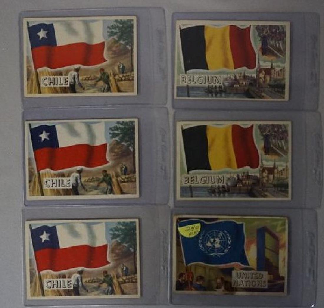 (28) 1956 TOPPS FLAGS OF THE WORLD CARDS - 3
