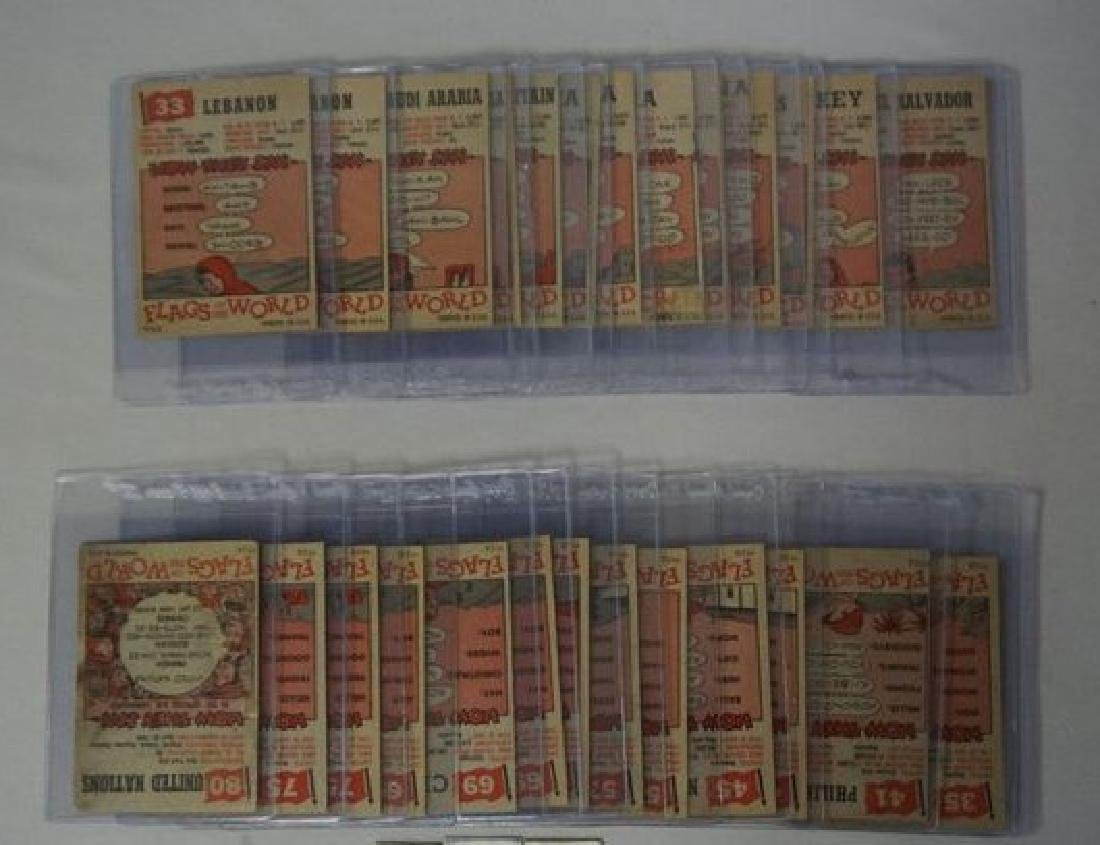 (28) 1956 TOPPS FLAGS OF THE WORLD CARDS - 4