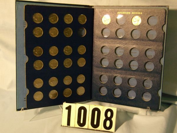 1008: BOOK W/25 JEFFERSON NICKELS