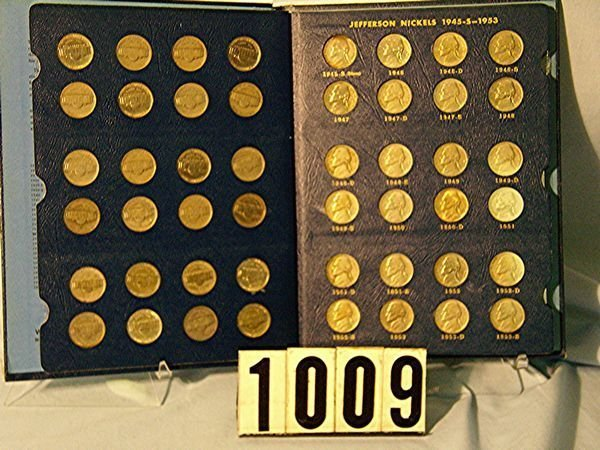 1009: BOOK W/71 JEFFERSON NICKELS