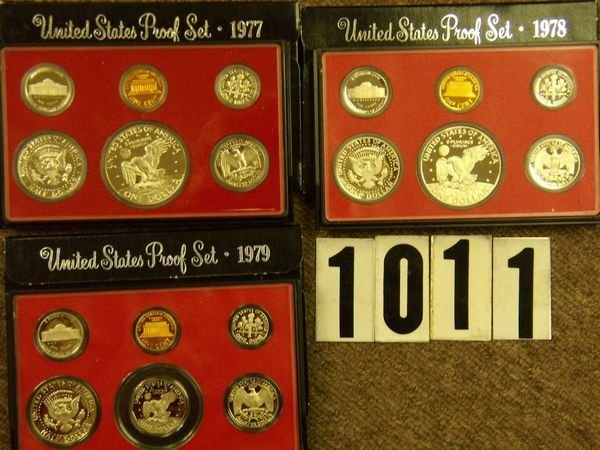 1011: 1977, '78 & '79 U.S. PROOF SETS