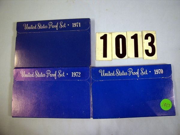 1013: 1970, '71 & '72 U.S. PROOF SETS