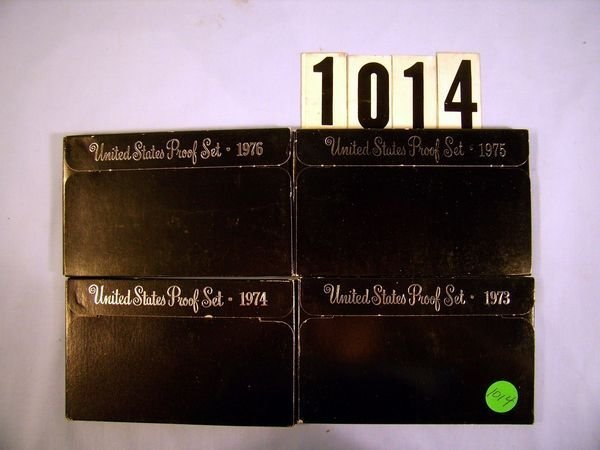 1014: 1973, '74, '75 & '76 U.S. PROOF SETS