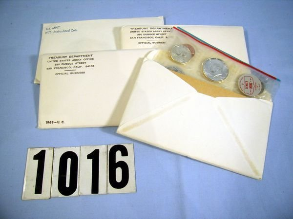 1016: 1964, '68, '69 & '75 U.S. MINT SETS