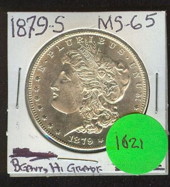 1021: 1879-S MORGAN SILVER DOLLAR